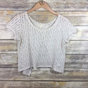 Urban Outfitters cream crop top size small